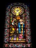 запятнанное стекло церков Стоковое Изображение RF