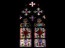 запятнанное стекло церков Стоковое Фото