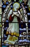 запятнанное стекло ангела Стоковое Изображение