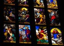 запятнанное стекло церков Стоковое Изображение