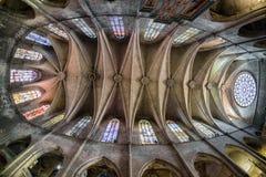запятнанное стекло церков Стоковые Изображения