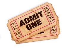 Запятнанные и поврежденные билеты допущения Стоковая Фотография