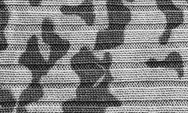 Запятнанный конец-вверх свитера камуфлирования связанный текстурой Стоковое Изображение