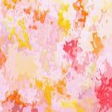 Запятнанный пинк младенца предпосылки квадрата текстуры картины светлый пастельный, желтый? оранжевый и красный цвет - современно бесплатная иллюстрация