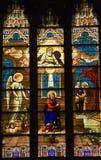 запятнанный st patrick s стекла собора стоковые изображения