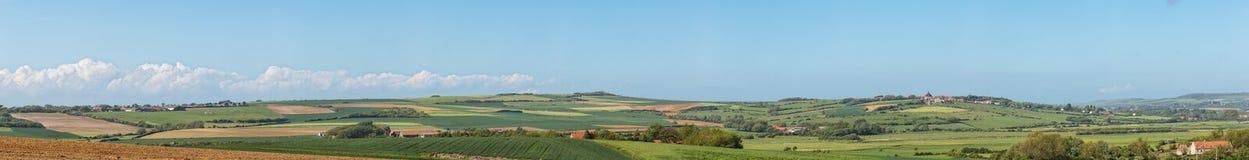 Заплатка полей и лугов около Wimereux Стоковое Изображение RF