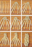 Заплетать хлеб challah, коллаж Стоковая Фотография RF