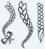 Заплетенные волосы иллюстрация вектора