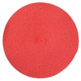 Заплетенный круг красного цвета ткани Стоковые Изображения