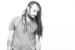 Заплетенный молодой человек волос Стоковая Фотография