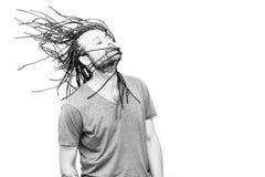 Заплетенный молодой человек волос Стоковое Изображение