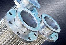 Заплетенный нержавеющей сталью рифлёный шланг металла. Стоковые Изображения RF