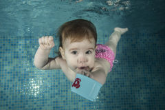 Заплывание младенца Стоковое Изображение RF