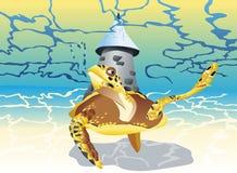Заплывание черепахи Стоковые Изображения RF