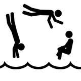 заплывание Стоковые Фото