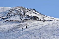 Зарабатывать ваши повороты в задней стране: Loveland, пропуск, Колорадо, рай лыжи Стоковое Изображение