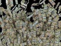 Заработайте деньги: пуки изолированных долларов США Стоковое фото RF