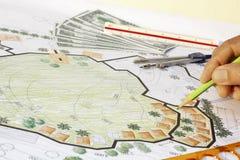 Заработок для плана ландшафта дизайна стоковая фотография