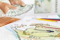 Заработок для плана ландшафта дизайна стоковое изображение rf