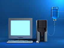 зараженный компьютер иллюстрация штока