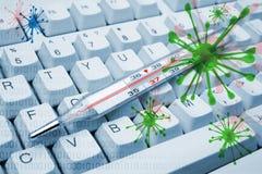 зараженный компьютер Стоковые Фотографии RF
