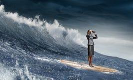 Заразительная волна успеха Мультимедиа Стоковое Фото