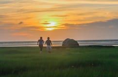 Заразительный заход солнца Стоковое фото RF
