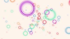 Зарево абстрактного летания красочное объезжает анимацию частиц бесплатная иллюстрация