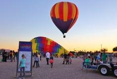 Зарево воздушного шара ежегодного отпуска на SanTan Стоковые Фото
