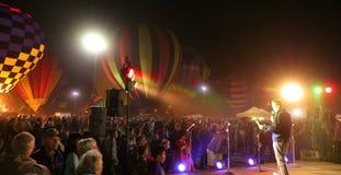 Зарево воздушного шара ежегодного отпуска на SanTan Стоковое Изображение RF