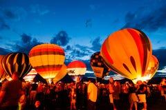 Зарево воздушного шара Стоковое Изображение
