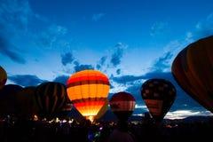 Зарево воздушного шара Стоковые Изображения RF