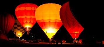 Зарево воздушного шара, Albuequerque, NM Стоковые Изображения RF