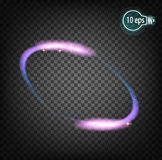 Зарево запряженных частиц, иллюстрация вектора Стоковое фото RF