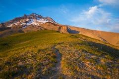 Зарево захода солнца, клобук Mt., Орегон Стоковая Фотография