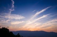 Зарево захода солнца Стоковая Фотография