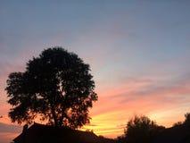 Зарево захода солнца Стоковое Изображение