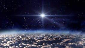 Зарево звезды ночи космоса иллюстрация штока