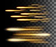 Зарево изолировало белое прозрачное влияние, пирофакел объектива, взрыв, яркий блеск, линию, вспышку солнца, искру и звезды Для t иллюстрация штока