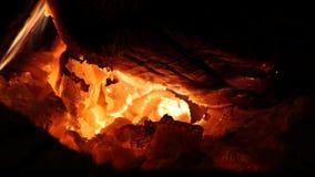 Зарево огня видеоматериал