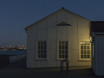 Зарево раннего вечера Сан-Франциско Стоковое фото RF