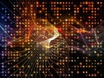 Зарево решетки цифров Стоковые Фотографии RF