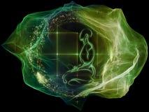 Зарево частицы разума Стоковая Фотография RF