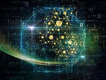 Зарево частицы Стоковое фото RF