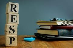 Зарегистрированные сбережения образования планируют RESP стоковые фото