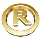 зарегистрированный знак Стоковая Фотография RF