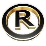зарегистрированный знак Стоковые Изображения RF