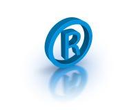 зарегистрированный товарный знак символа Стоковые Фото