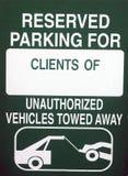 зарезервированный парковать Стоковая Фотография