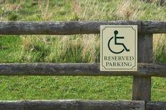 зарезервированный парковать стоковые изображения rf